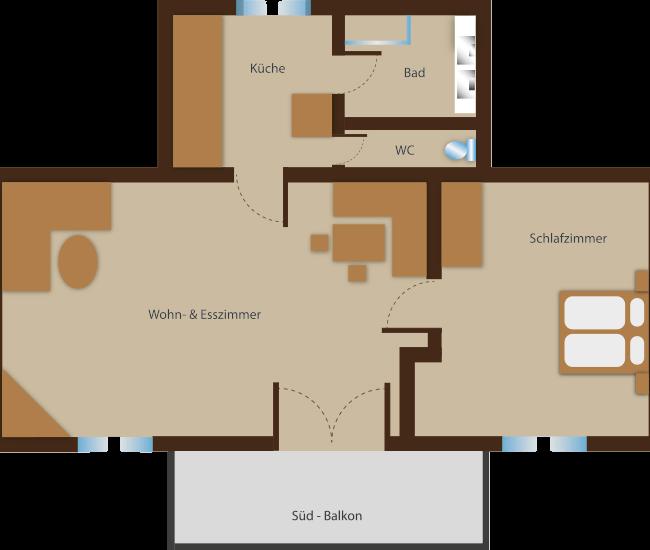 Seehaus Sommerheim - Ferienwohnung 5 Ansicht
