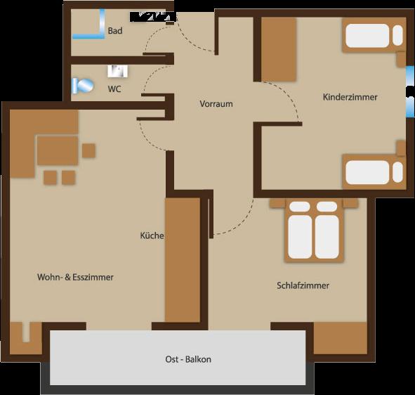 Seehaus Sommerheim - Ferienwohnung 6 Ansicht